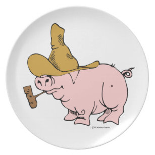 Hilly Pig Dinner Plate  sc 1 st  Zazzle & Baby Pig Plates | Zazzle