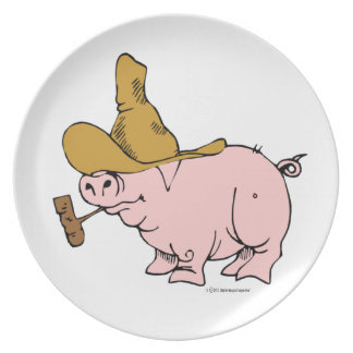 Hilly Pig Dinner Plate