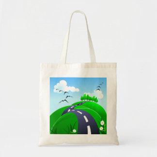 Hilly road, bag