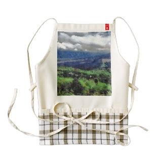 Hilly terrain zazzle HEART apron
