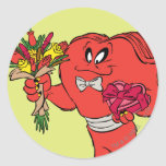 Hilo de araña con los rosas pegatinas redondas