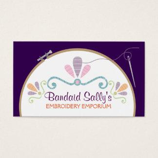 Hilo de encargo de la aguja del aro de bordado del tarjeta de negocios