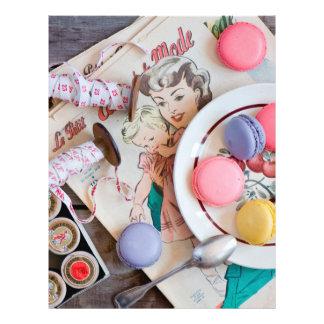 Hilo del plato del postre de las galletas de folleto 21,6 x 28 cm