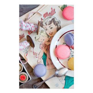 Hilo del plato del postre de las galletas de folleto 14 x 21,6 cm