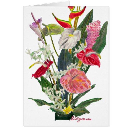 36660d1e7aed6f Hilo Hawaii Tropical Flowers Watercolor Print Card. Hilo Hawaii Tropical  Flowers Watercolor Print Card Zazzle