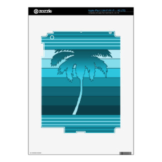 Hilo Hawaiian Palm iPad or Tablet Skin Decal For iPad 3