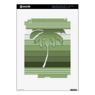 Hilo Hawaiian Palm iPad or Tablet Skin Skins For iPad 3