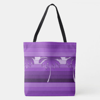 Hilo Hawaiian Palms Striped Beach Bag