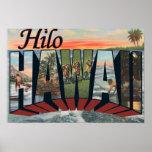 Hilo, letra ScenesHilo, HI de HawaiiLarge Impresiones