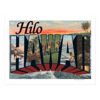 Hilo, letra ScenesHilo, HI de HawaiiLarge Postal