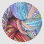 Hilo para obras de punto teñido pegatinas redondas