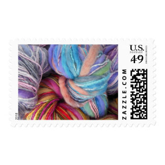 Hilo para obras de punto teñido timbre postal