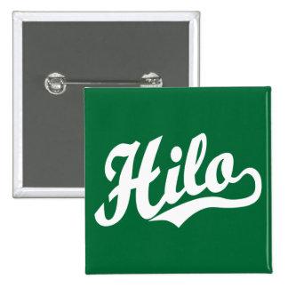 Hilo script logo in white button
