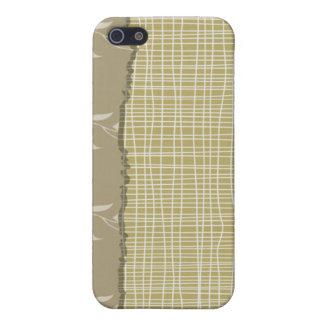 Hilos blancos detallados en pálido - mirada verde iPhone 5 funda