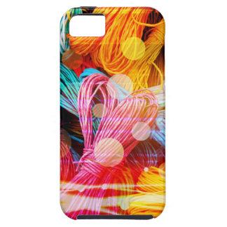 Hilos coloridos intrépidos del hilado y haces funda para iPhone SE/5/5s