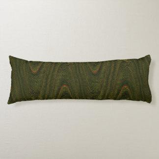 Hilos tejidos extracto, almohada verde del cuerpo