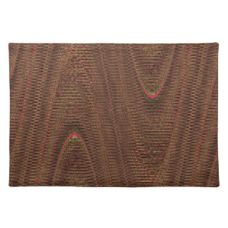 Hilos tejidos extracto, Brown Placemat Manteles Individuales