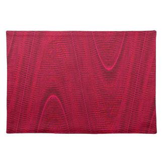 Hilos tejidos extracto, rojo Placemat de la Manteles Individuales