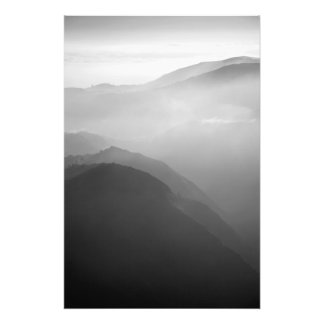 Hils in the mist photo print