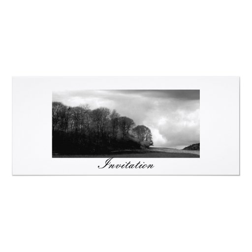 Hilside 4x9.25 Paper Invitation Card