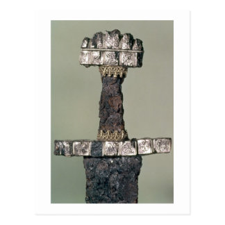 Hilt of a Viking sword found at Hedeby, Denmark, 9 Postcard