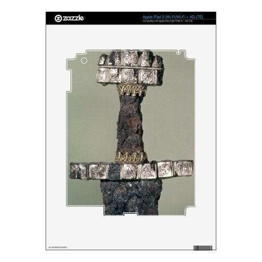 Hilt of a Viking sword found at Hedeby, Denmark, 9 Decals For iPad 3