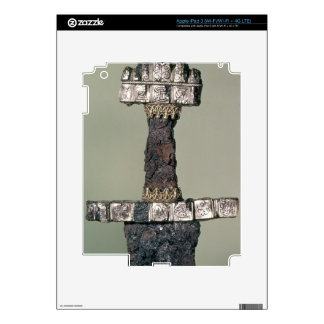 Hilt of a Viking sword found at Hedeby, Denmark, 9 Skin For iPad 3