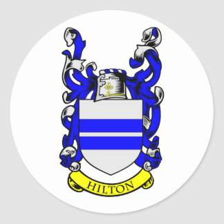 HILTON Coat of Arms Classic Round Sticker