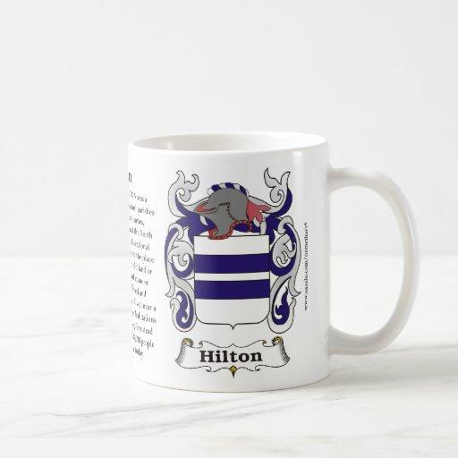 Hilton Family Coat of Arms mug