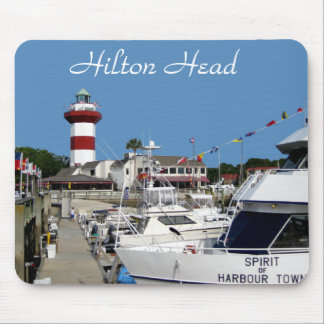 Hilton Head, cojín de ratón del faro de la ciudad  Alfombrillas De Ratón