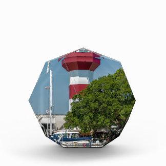 hilton head harbor town lighthouse red white south acrylic award