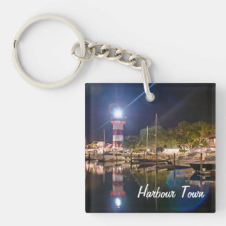 Hilton Head Harbour Town Single Sided Keychain