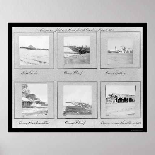 Hilton Head, ilustraciones 1862 de la foto del SC Póster