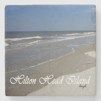 Hilton Head Island, Beach Scene Marble Coaster. Stone Coaster