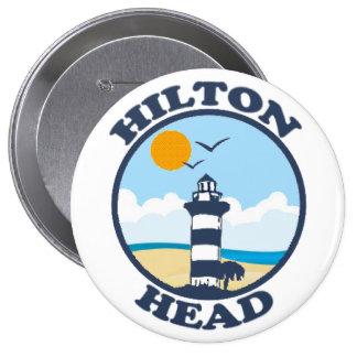 Hilton Head Island. 4 Inch Round Button