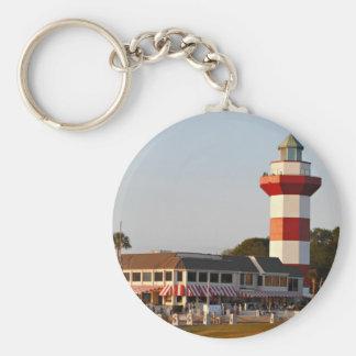 Hilton Head Island Lighthouse Basic Round Button Keychain