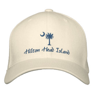 Hilton Head Island Palmetto Embroidered Hat