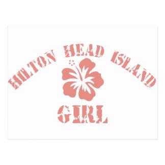 Hilton Head Island Pink Girl Postcard