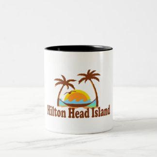 Hilton Head Island. Taza De Café De Dos Colores