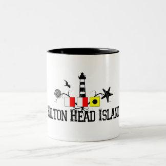 Hilton Head Island. Two-Tone Coffee Mug