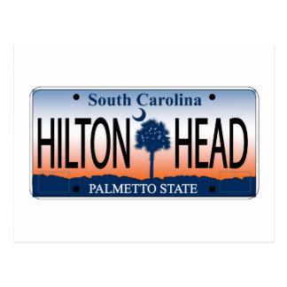 HILTON HEAD License Plate Postcard