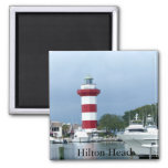 Hilton Head Lighthouse 2 Inch Square Magnet
