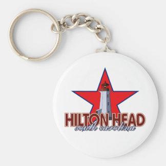 Hilton Head Lighthouse Basic Round Button Keychain