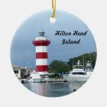Hilton Head  Lighthouse Double-Sided Ceramic Round Christmas Ornament