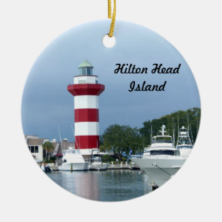 Hilton Head  Lighthouse Double-Sided Ceramic Round Christmas Ornament