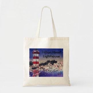 Hilton Head lighthouse painting Bag