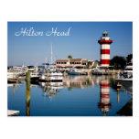 Hilton Head, postal del faro de la ciudad del puer