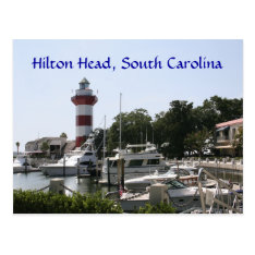 Hilton Head, Sc  Harbour Town Lighthouse Postcard at Zazzle
