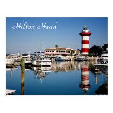 Hilton Head, SC  Harbour Town Lighthouse Postcard at Zazzle