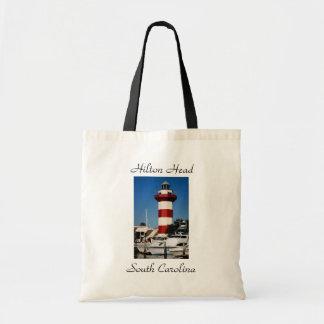 Hilton Head, SC  Harbour Town Lighthouse Tote Bag